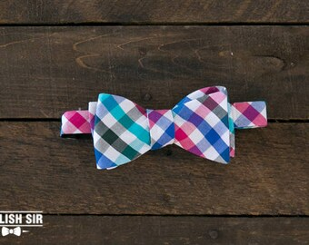 Night Out Bow Tie Stylish Sir Perfect Gift For Groomsmen Formal Classic Modern Bowtie Self Tie Flannel Pattern