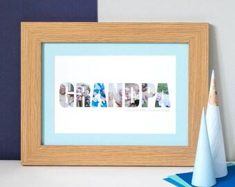 Grandad Photograph Print – Personalised Print for Grandad – photo gift for grandad – Father's Day gift – keepsake for grandad – grandad gift