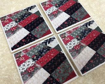 Ceramic Tile Coasters - Set of 4 Christmas