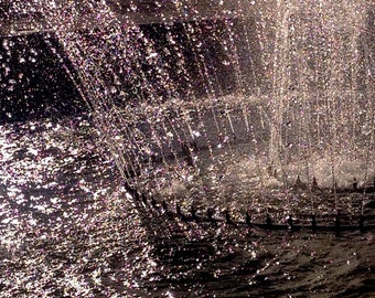 "Wishing Fountain lucky luck water motion life 8x8"" photo San Francisco ships from CA"