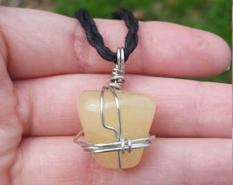 Yellow Quartz necklace yellow quartz pendant womens crystal jewelry healing crystal pendants raw quartz crystal necklace pendant