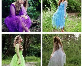 Adult Fairy Halloween Blue Costume ~ Party Dress ~ Theatre ~ Cosplay ~ Renaissance ~ Batcholette Party ~ Renaissance ~ Dance