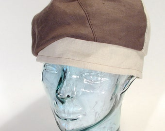 SALE The Sophie Hat summer beret turban art deco linen flapper Downton Abbey Miss Fisher  7 15/8 (62 cm)
