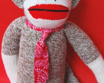 "Sock Monkey ""Dill"" - Charming, ""Heritage-Style"""