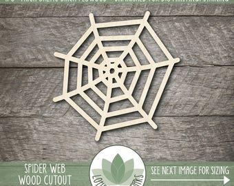 Spider Web Laser Cut Wood Shape, DIY Halloween Decor, Wood Spider Web, DIY Craft Supply, Spider Web Shape