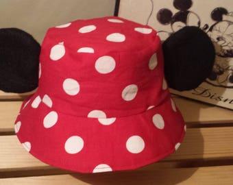 Mickey Mouse Bucket Hat / Kids Disney Sun Hat / Mickey Ears Hat