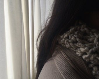 Scarf Oatmeal chunky Cowl crochet Fall Winter Accessories