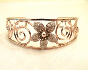 Krementz Gold Plated Openwork Cuff Bracelet (No.1274)