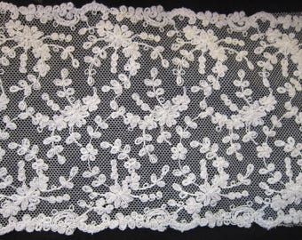 """8 plus yards antique french lace 5"""" wide brides wedding gowns sewing gorgeous lace"""