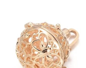 2pc gold finish metal prayer box pendant-10407