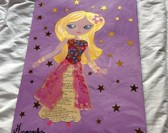 Princess painting the stars