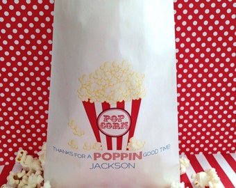 Popcorn Bags, Popcorn favor bags, Circus  favor Bags, Carnival  favor bags,  Circus birthday party, Favor bags, Wedding, Bridal Shower