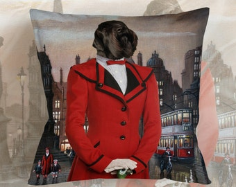 Dog Pillow - Schnauzer Pillow Case - Schnauzer Pillow Cover - Dog Pillow Cover - Schnauzer Art - Schnauzer Gifts