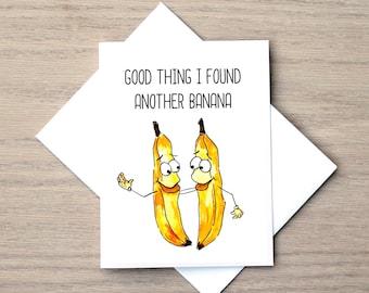 Love Card, Relationship Card, Banana Card, Friendship Card, Anniversary Card, I Love You Card, BFF Card, UPDATED VERISON