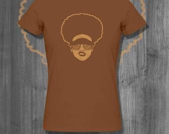 Slay Face Afro T shirt Natural Hair tops and tees t-shirts t shirts| Free Shipping