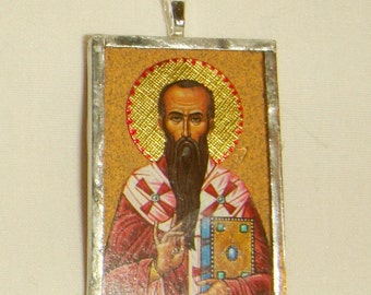 St Basil the Great Pendant inv1687
