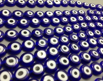 30 pcs x 12 mm Hamsa evil  eye  protection beads for hamsa jewelry