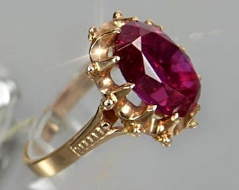 Ruby ring Vintage Etsy AU