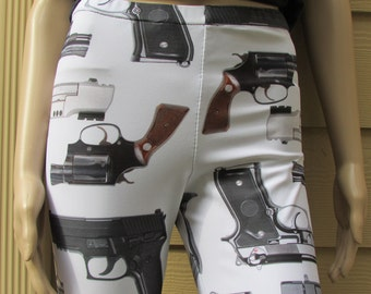 Guns Print Spandex Leggings