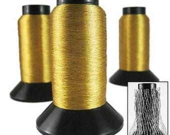 Embroidery thread. Warm Gold lurex thread 1000m JR04923