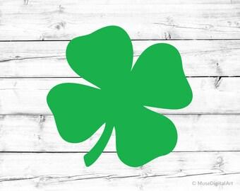 St Patricks Day Svg Shamrock Svg Shamrock Silhouette Svg Clover Svg 4 Leaf Clover Svg Lucky Clover Svg St Pattys Day Svg Cricut &Silhouette