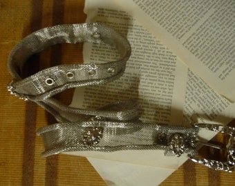 Vintage 70s MESH Silver finishing BELT with Buckle