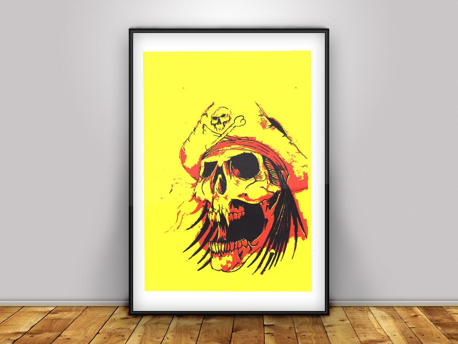 Pirate Digital Print Home Decor Wall Art Poster