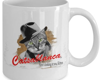 Tincar Orginal Catsablanca - Cat Lovers Parody Mug