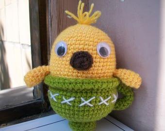 Crochet Chicken souvenir in a cup/сувенир цыпленок в чашке