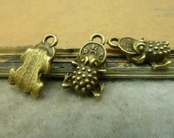 20pcs 5x12mm The Bufonid Antique Bronze Retro Pendant Charm For Jewelry Bracelet Necklace Charms Pendants C4868