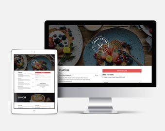 Menu Website, Website, restaurant menu, catering menu, restaurant menu template, food menu