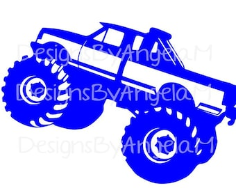 Monster  Truck SVG Digital cutting file  Instant Download - Use on your cutting machine Vector File
