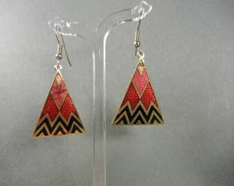Cloisonne earrings