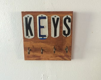 License plate keys holder