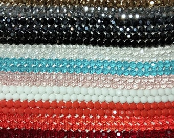 100-10 glass beads, faceted ball shape 10 mm, color amethyst, chrysoprase, amber, black, light blue, blue, chameleon, copper, silver
