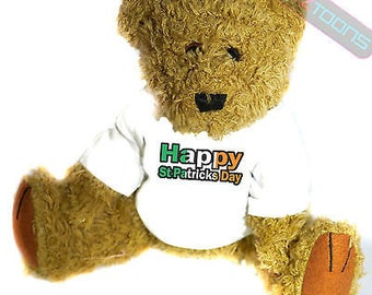 Happy st patricks day mascot novelty gift teddy bear