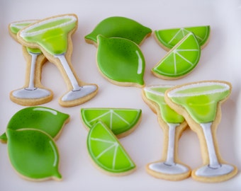 12 Margarita Themed Sugar Cookies