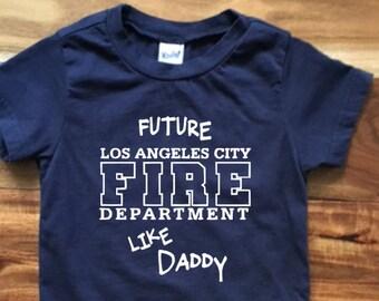 Future Firefighter Fire Department Shirt or Onesie