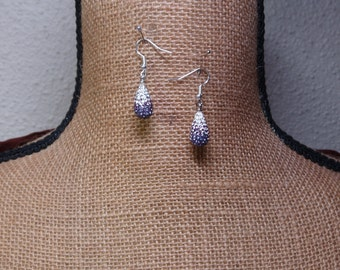 Natural Amethyst Gemstone, Solid Sterling 925 Silver Earrings