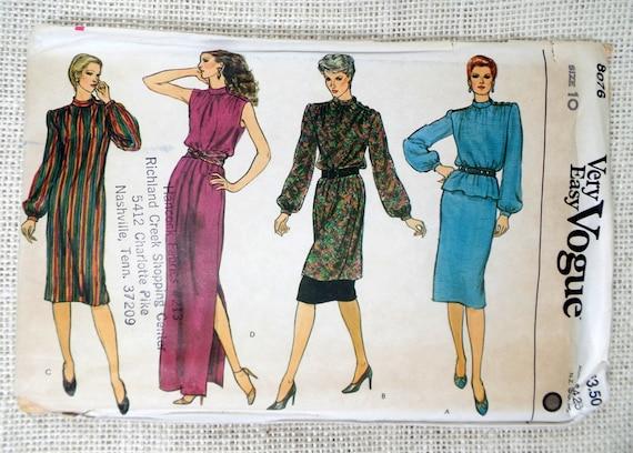 Vogue 8076 Muster Vintage Schnittmuster versammelten