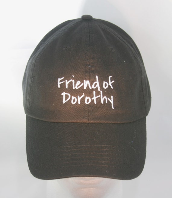 Friend of Dorothy  (Polo Style Ball Black with White Stitching)