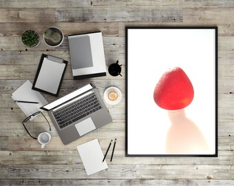 Art Print of Seaham SeaGlass - Radiant Red - PP5 - From Seaham England