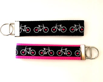 Bike Keychain Gift for Cyclist Cycling Keychain Bike Wristlet Key Chain Cyclist key chain Bike Riding Spin Tour De France Keychain Gift for