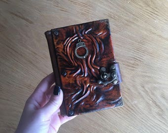 Leather Journal, Steapunk Journal, Travel Journal, Leather Notebook, Leather Sketchbook