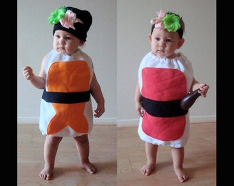 Baby Halloween Costume  Sushi Halloween Costume  Sushi Costume  Cosplay  Dress Up  Photo Prop  Shrimp Sushi Costume  Kids Halloween Costume