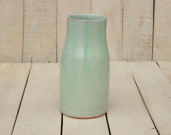Ceramic vase, medium size vase, modern style, Flower Vase, Pottery Vase, Green vase, Ceramic Flower Pot, Modern Vase Flower