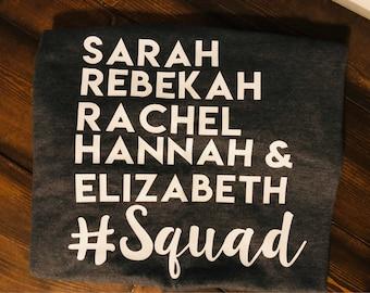 Infertility/Squad Shirt/Bible Squad/Biblical Infertility Shirt/Sarah/Rachel/Rebekah/Hannah/Elizabeth