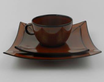 Ceramic tea cup trio Montgolfier France Modern french design