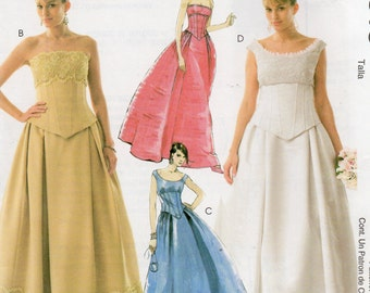 McCall's Evening Elegance Pattern 4513 BRIDAL Party TOPS & SKIRTS Misses Sizes 6 8 10 12
