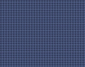 END BOLT! - 1/4 Yard - Houndstooth in Dark Blue - Dog Gone It by JACK!E from Camelot Fabrics Dog Fabrics - Jackie Fabrics - Camelot Fabrics